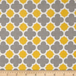 Riley Blake Quatrefoil Gray/Yellow