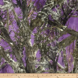 Minky True Timber Woodlands Purple Fabric