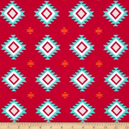 Riley Blake Jersey Knit Aztec Hot Pink Fabric