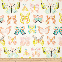 Art Gallery Winged Wingspan Melon Fabric