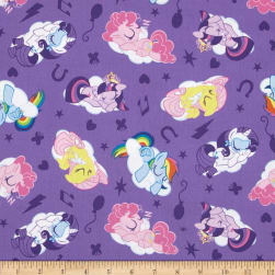 Hasbro My Little Pony Sleeping Ponies Lavender Fabric