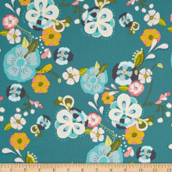 Art Gallery Emmy Grace Floral Floats Fresh Fabric
