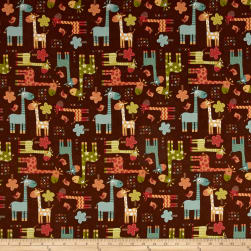 Riley Blake Home Decor Giraffe Brown Fabric