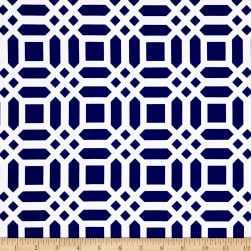 Riley Blake Home Decor Vivid Lattice Navy Fabric