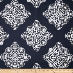 Terrasol Esperanza Medallion Navy/White Fabric