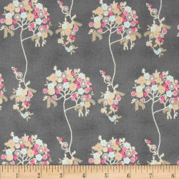 Art Gallery Cherie Voile Tree Fleur Sombre Fabric