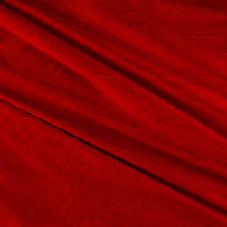 Dupioni Silk Fabric Red Fabric