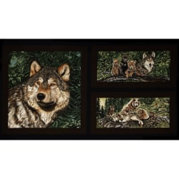 """Wolfsong Wolves 24"""" Panel Multi"""