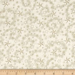 American Dreams 108 In. Wide Quilt Back Stars w/ Swirl Cream