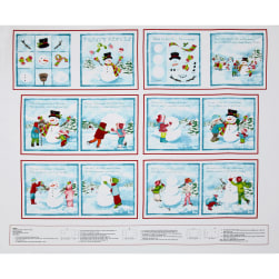 Frosty Flakes Book Panel 24 In. White/Blue