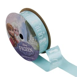 "7/8"" Frozen Ribbon Olaf Silhouette Blue 3YD Spool"