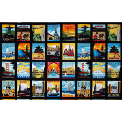 Dream Vacation Postcard Blocks Bright