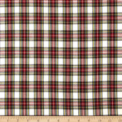 Kaufman House of Wales Plaid Ivory Fabric