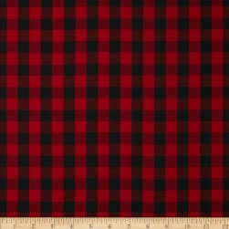 Kaufman House of Wales Plaid Red Fabric