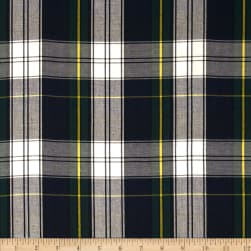 Kaufman House of Wales Lawn Plaid Blue Fabric