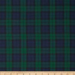 Kaufman House of Wales Lawn Plaid Nightfall Fabric