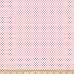 Kanvas Green Farms On the Dot White/Red Fabric