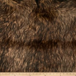 Shannon Faux Fur Golden Wolf Gold/Brown Fabric