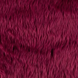 Shannon Faux Fur Luxury Shag Burgundy Fabric