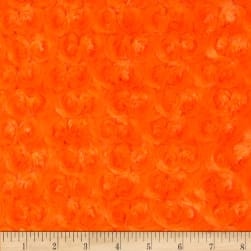 Shannon Minky Rose Cuddle Orange Fabric