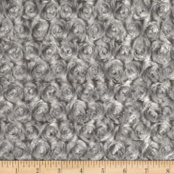 Shannon Minky Luxe Cuddle Rose Silver Fabric