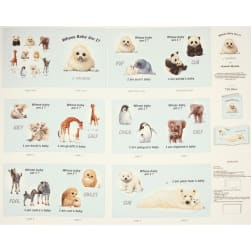 Animal Friends Soft Book Panel Blue Fabric