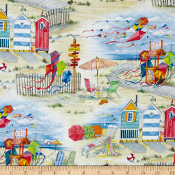 Beach Vista Allover Sand Fabric