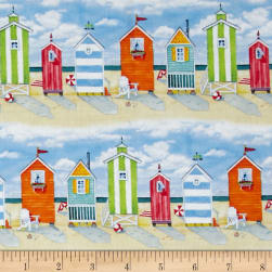 Beach Vista Cabanas Repeating Stripe Sand Fabric