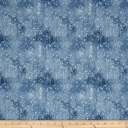 Landscape Medley Raindrops Blue Fabric