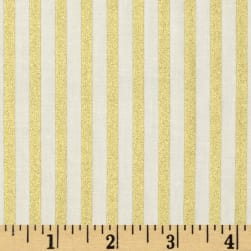 Gold Standard Metallic Shirting Stripe Cream/Gold