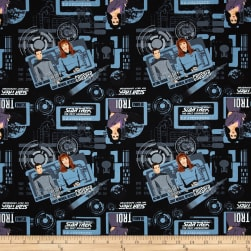 Star Trek The Next Generation Blue Uniforms Fabric