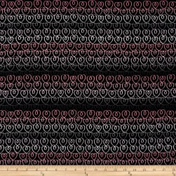 Kanvas Tiny Dancer Heart Ribbons Black Fabric