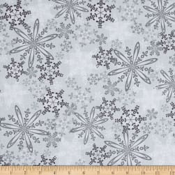 Kanvas Shades of Winter Winter Haze Silver Fabric