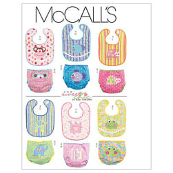 McCall's Infants' Bibs and Diaper Covers Pattern M6108 Size OSZ