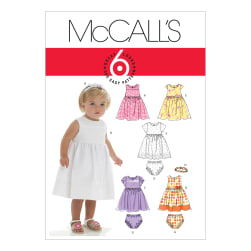 McCall's Infants' Lined Dresses, Panties And Headband Pattern M6015 Size OSZ