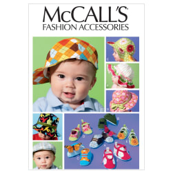 McCall's Infants' Hats and Soft Shoes Pattern M6575 Size OSZ