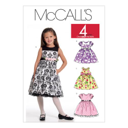 McCall's M5793 Children's/Girls' Lined Dresses Pattern CDD (Sizes