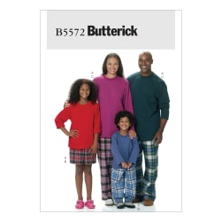 Butterick Misses'/Men's/Children's/Boys'/Girls' Top, Shorts and Pants Pattern B5572 Size ADT