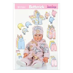 Butterick Infants' Jacket, Overalls, Pants, Hat and Mittens