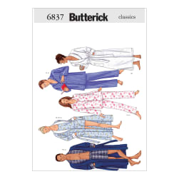 Butterick Unisex Robe, Belt, Top, Shorts & Pants Pattern B6837 Size LRG