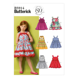 Butterick Children's/Girls' Dress and Belt Pattern B5914 Size CDD