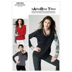 Vogue Misses' Top Pattern V8793 Size 0Y0