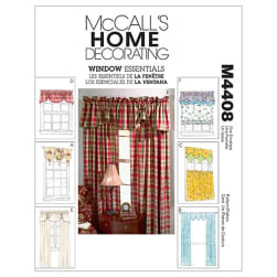 McCall's Window Essentials (Valances and Panels) Pattern M4408 Size OSZ