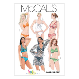 McCall's Misses' Two- Piece Bathing Suit and Cover-Up