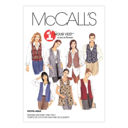 McCall's Misses' Unlined Vests In Two Lengths Pattern M2260 Size LRG