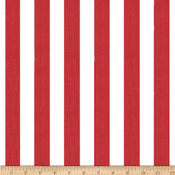 1 in. Stripe Red/White Fabric