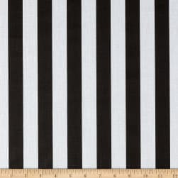 1 in. Stripe Black/White Fabric