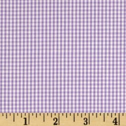 Wide Width 1/16 in.Gingham Check Purple Fabric