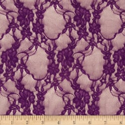 Stretch Lace L/Plum