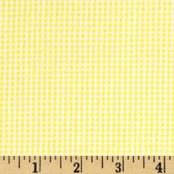 Cotton Seersucker Check Yellow/White Fabric